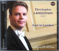 Christopher Langdown Live in London CD cover
